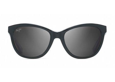 Maui Jim Canna Black With Crystal Womens Sunglasses  - GS769-02K