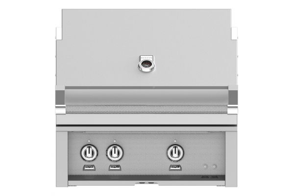 """Hestan 30"""" Stainless Steel Built-In Sear Burner Rotisserie Natural Gas Grill - GSBR30-NG"""