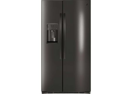 GE Black Stainless Steel 25.3 Cu. Ft. Side By Side Refrigerator - GSE25HBLTS