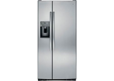 GE 23.2 Cu. Ft. Stainless Steel Side-By-Side Refrigerator - GSS23HSHSS