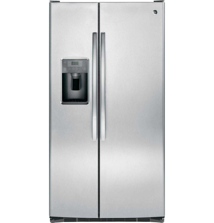 Ge 25 4 Cu Ft Side By Side Refrigerator Gss25gshss