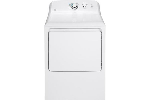 Large image of GE 6.2 Cu. Ft. White Gas Dryer - GTX33GASKWW