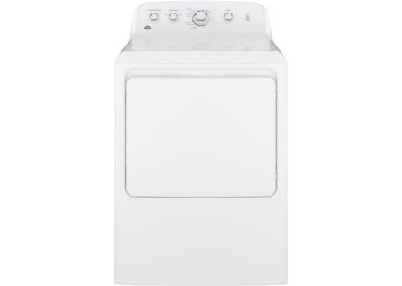GE 7.2 Cu Ft Front Loading White Gas Dryer - GTD42GASJWW