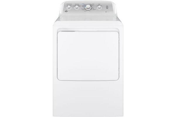 Large image of GE 7.2 Cu. Ft. White Gas Dryer - GTD45GASJWS