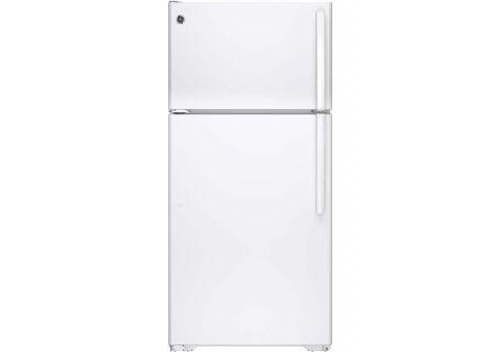 GE White 14.6 Cu. Ft. Top-Freezer Refrigerator - GTE15CTHLWW