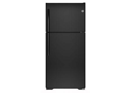 GE Black 18.2 Cu. Ft. Top-Freezer Refrigerator - GTE18ETHBB