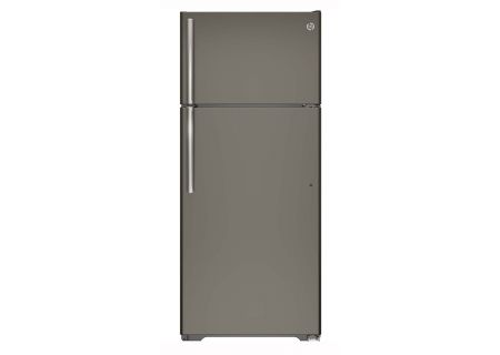 GE Slate 17.5 Cu.Ft Top-Freezer Refrigerator - GTE18GMHES