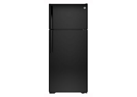 GE Black 17.5 Cu.Ft Top-Freezer Refrigerator - GTE18GTHBB