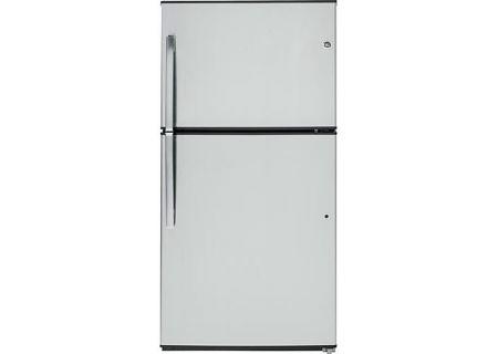 GE Stainless Steel Top Freezer Refrigerator - GTE21GSHSS