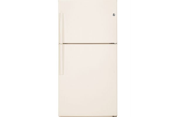 GE Bisque Top Freezer Refrigerator - GTE21GTHCC