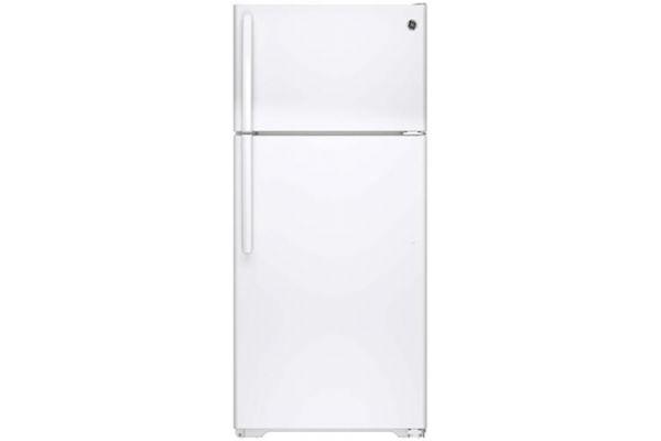 GE 15.5 Cu Ft White Top Freezer Refrigerator - GTS16DTHWW
