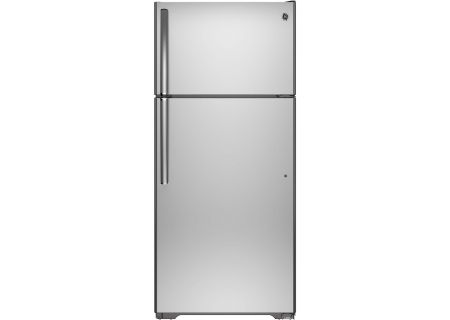 GE Stainless Steel Top-Freezer Refrigerator - GTS16GSHSS