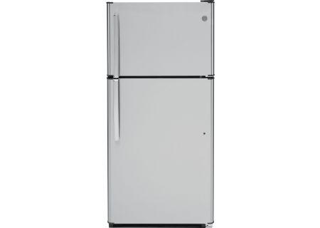 GE Stainless Steel Top Freezer Refrigerator - GTS18FSLSS