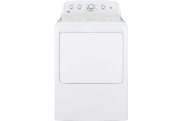 Large image of GE 6.2 Cu Ft Front Loading White Electric Dryer - GTX42EASJWW
