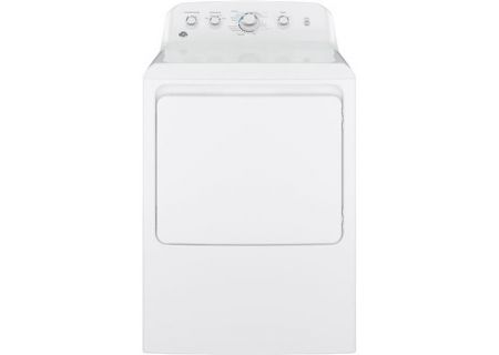GE 6.2 Cu Ft Front Loading White Gas Dryer - GTX42GASJWW