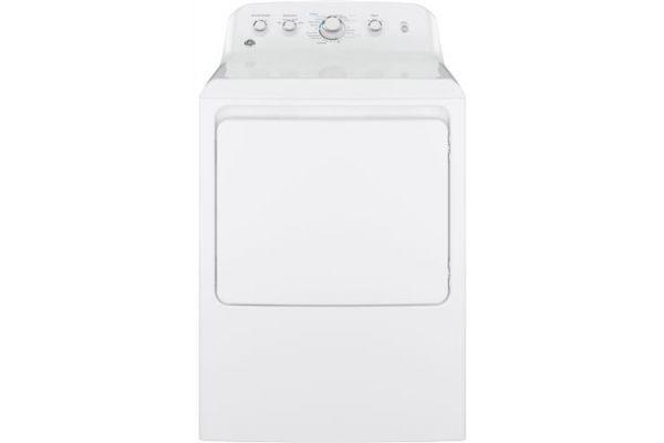 Large image of GE 6.2 Cu Ft Front Loading White Gas Dryer - GTX42GASJWW