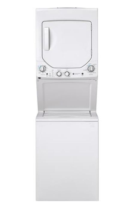 Ge 24 Unitized Emaker Stack Washer With Electric Dryer Gud24essmww