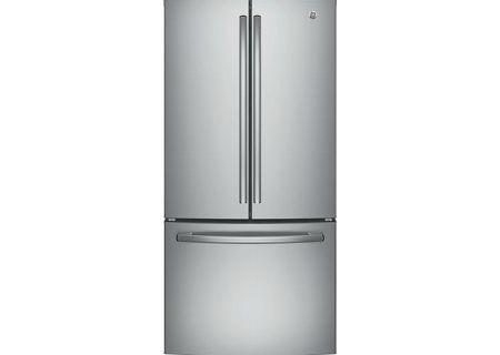 GE Stainless Steel Counter-Depth French-Door Refrigerator - GWE19JSLSS