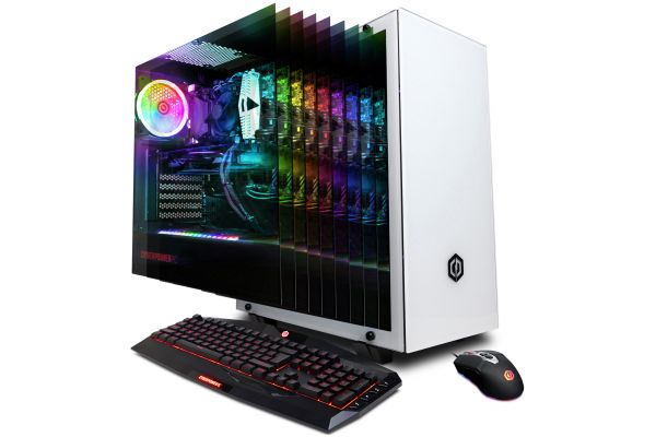 CyberPowerPC Gamer Xtreme White Gaming Desktop Intel i7-9700K 16GB RAM 2TB SATA + 240GB SSD, NVIDIA GeForce RTX 2080 Ti - GXI11160CPG
