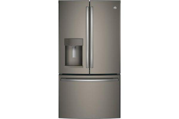 GE Slate French-Door Bottom Freezer Refrigerator - GYE22HMKES