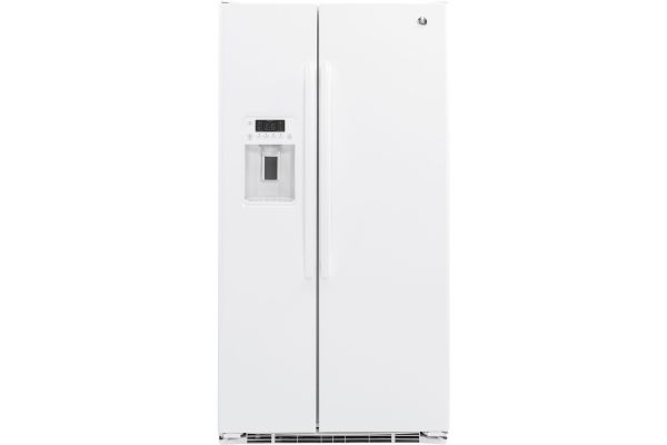 GE 21.9 Cu. Ft. White Counter Depth Side-By-Side Refrigerator - GZS22DGJWW