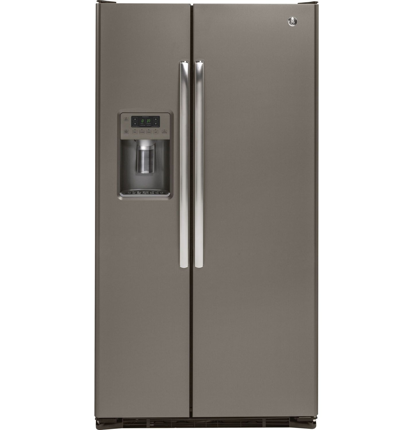 ge slate side by side refrigerator gzs22dmjes. Black Bedroom Furniture Sets. Home Design Ideas