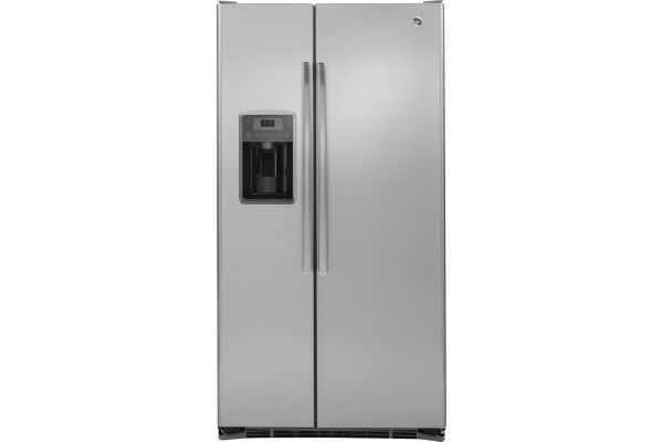 GE 21.9 Cu. Ft. Stainless Steel Counter Depth Side-By-Side Refrigerator - GZS22DSJSS
