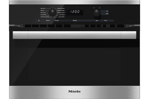 """Large image of Miele Built-In Stainless Steel 24"""" ContourLine DirectSelect Speed Oven - 097669620"""
