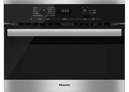 "Miele Stainless Steel 24"" PureLine DirectSelect Built-In Speed Oven  - H6200BMSS"