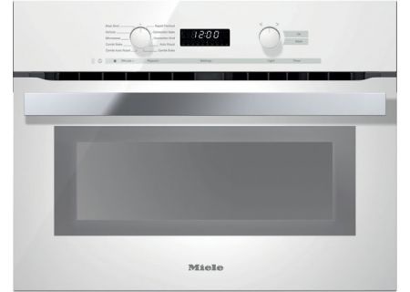 """Miele 24"""" PureLine Brilliant White DirectSelect Speed Oven  - H6200BMWH"""