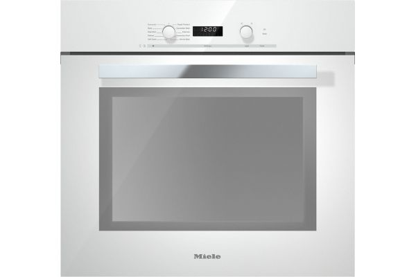 "Large image of Miele 30"" Brilliant White Convection Wall Oven - 09863740"