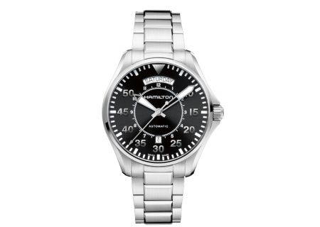 Hamilton Pilot Day Date Stainless Steel Mens Watch  - H64615135