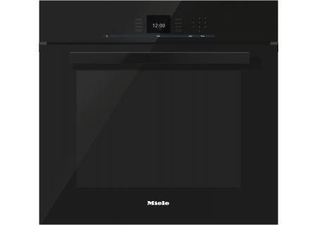 "Miele 30"" PureLine Obsidian Black SensorTronic Convection Single Wall Oven  - H6680BPOB"