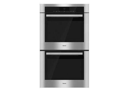 "Miele 30"" ContourLine Stainless Steel Double Convection Wall Oven - H6780BP2SS"