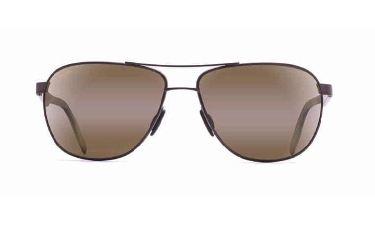 61e89e2c459b Maui Jim Castles Matte Chocolate Brown Mens Sunglasses - H728-01M