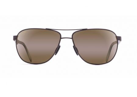 Maui Jim Castles Matte Chocolate Brown Mens Sunglasses  - H728-01M