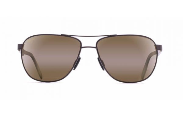 Large image of Maui Jim Castles Matte Chocolate Brown Mens Sunglasses - H728-01M