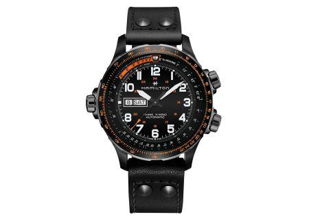 Hamilton Khaki Aviation X-Wind Black Automatic Mens Watch - H77785733