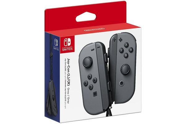 Large image of Nintendo Switch Gray Joy-Con Controllers - HACAJAAAA
