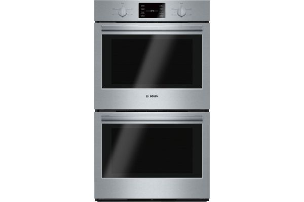 """Large image of Bosch 500 Series 30"""" Stainless Steel Electric Built-In Double Wall Oven - HBL5551UC"""