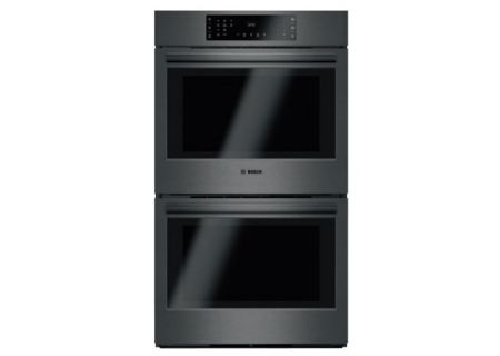 """Bosch 30"""" Black Stainless Steel 800 Series Double Wall Oven - HBL8642UC"""