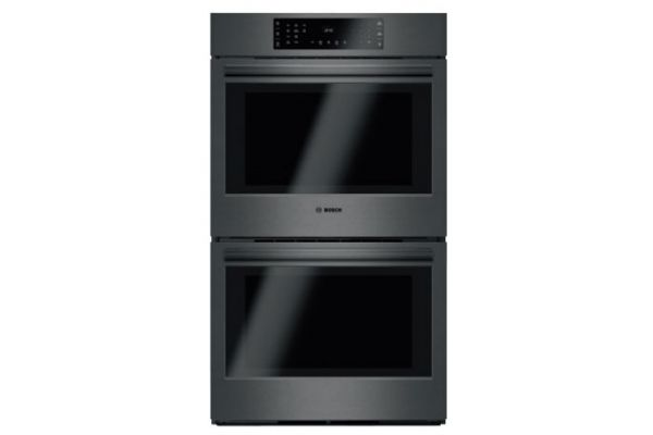 """Large image of Bosch 30"""" Black Stainless Steel 800 Series Double Wall Oven - HBL8642UC"""