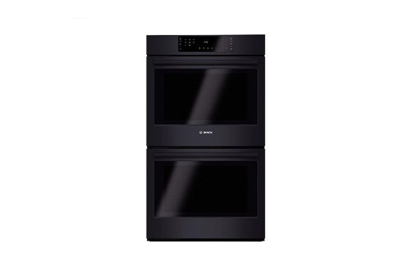 """Bosch 800 Series 30"""" Black Electric Built-In Double Wall Oven - HBL8661BK"""