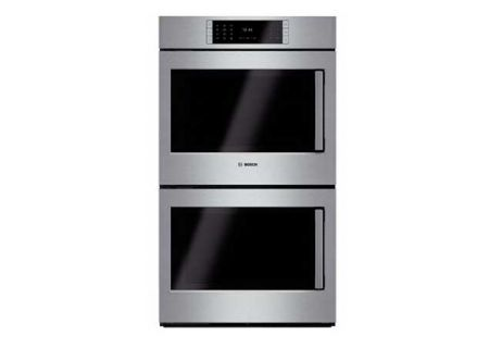 "Bosch 30"" Benchmark Series Stainless Steel Double Wall Oven - HBLP651LSS"