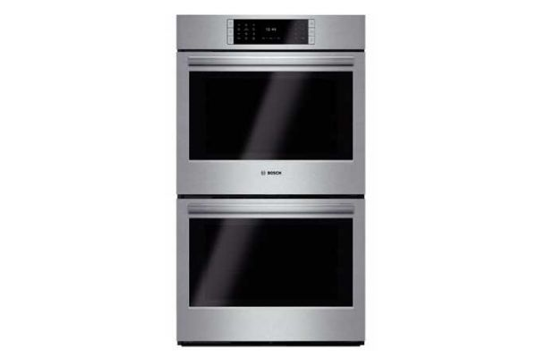 """Large image of Bosch 30"""" Benchmark Series Stainless Steel Double Wall Oven - HBLP651UC"""