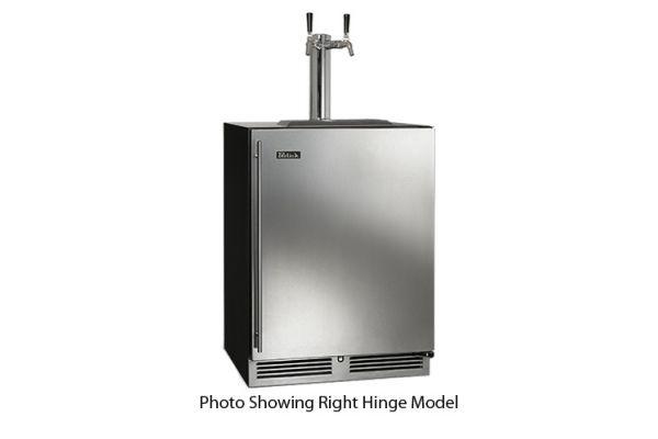 """Perlick 24"""" Panel Ready C-Series Left Hinge Indoor Beer Dispenser - HC24TB-3-2L2"""