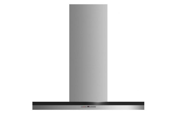 """Large image of Fisher & Paykel 36"""" Stainless Steel Box Chimney Wall Hood  - HC36DTXB2"""