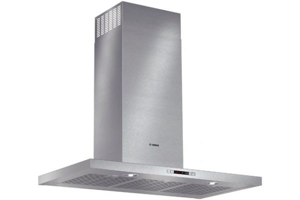 "Large image of Bosch 36"" Stainless Steel Box Canopy Chimney Hood - HCB56651UC"