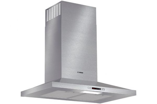 "Bosch 30"" Stainless Steel Energy Star Series Pyramid Canopy Chimney Wall Hood - HCP30E51UC"