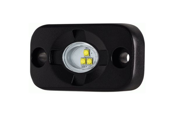Large image of Metra White Auxiliary Lighting Pod - HE-TL1